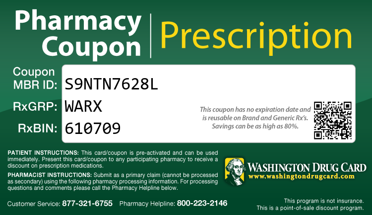 Washington Drug Card - Free Prescription Drug Coupon Card