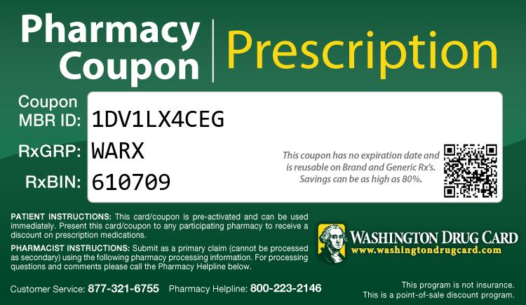 Washington Drug Card - Free Prescription Drug Coupon Card